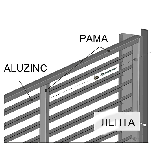 металлические заборы жалюзи