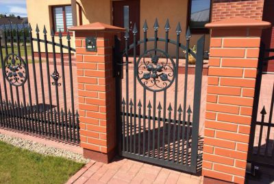 Ажурный забор и калитка из металла
