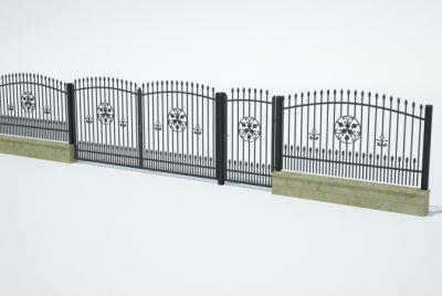 Заборные блоки из 2 рядов