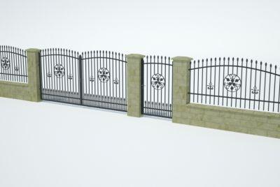 Заборные блоки из 3 рядов