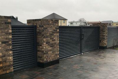 Забор горизонтальный