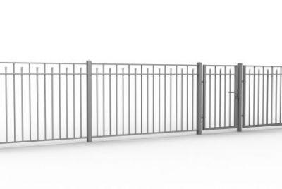 Классический металлический забор