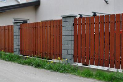 Термически обработанный забор из дерева