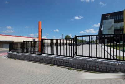 Вертикальный забор из секций