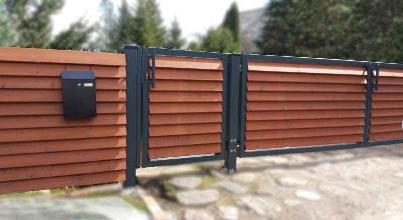 деревянный забор